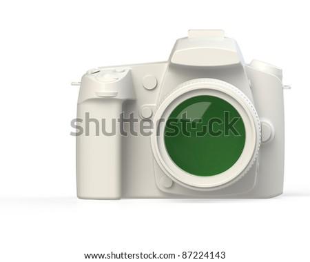 Professional DSLR Photo Camera - stock photo