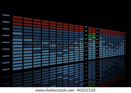 professional equalizer; 3d image - stock photo