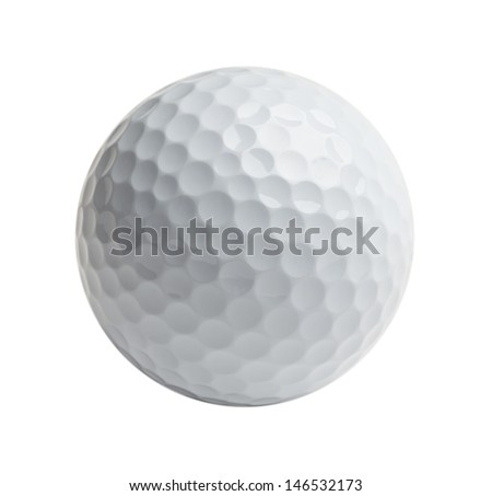 Professional golf ball Isolated on White Background. - stock photo