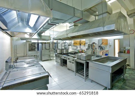 Professional kitchen - stock photo