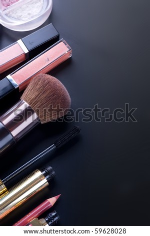 Professional Make-up border - stock photo