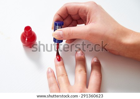 Professional Make-up nails - stock photo