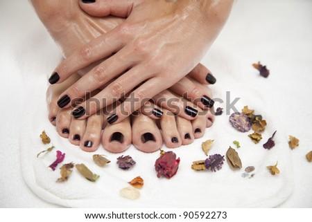 Professional manicure & pedicure - stock photo