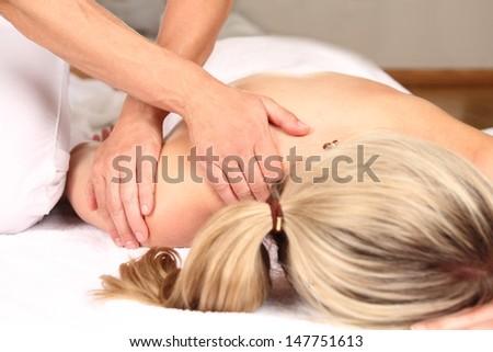 Professional massage - stock photo