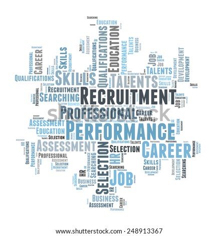Professional recruitment and talent search - stock photo