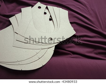 Professional sewing patterns - stock photo