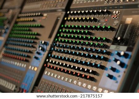 Professional sound mixer - stock photo