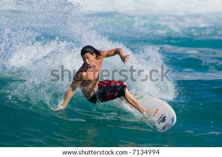 professional surfer Kalani Robb (for editorial use only) - stock photo