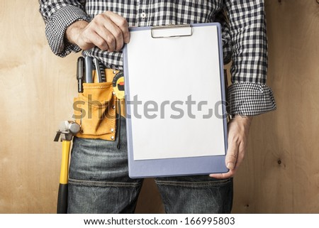 professional with to do list,selective focus on nearest parts - stock photo