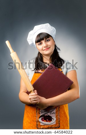 professional woman cook - stock photo