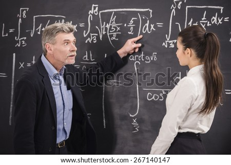 Professor of chemistry leading lecture in University. - stock photo