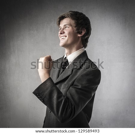 profile of young businessman - stock photo