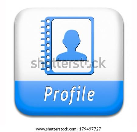 personal profile icon account bio button shutterstock avatar display extra vector