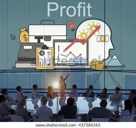 Profit Accounting Finance Auditing Money Banking Concept - stock photo