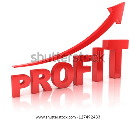 profit graph with arrow - stock photo