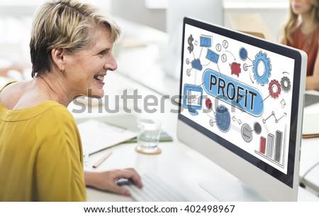 Profit Income Savings Banking Money Concept - stock photo
