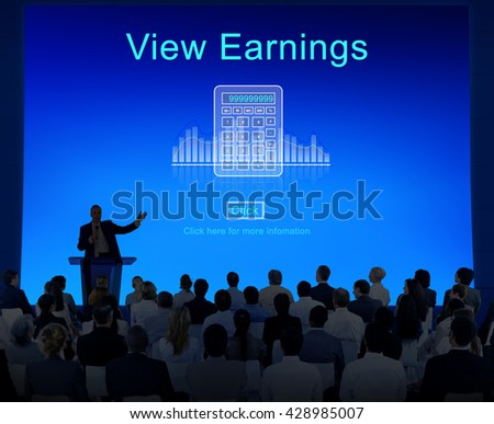 Profit Savings View Earnings View Total Amount Concept - stock photo