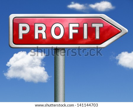 profit way to progress prosperity success and wealth financial growth profit icon profit button red road sign arrow - stock photo