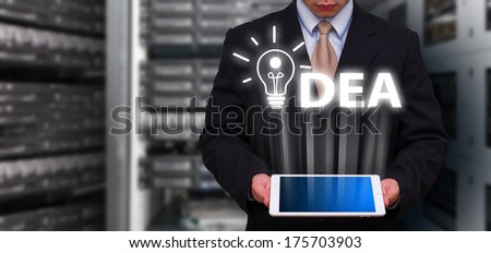 Programmer and idea concept - stock photo