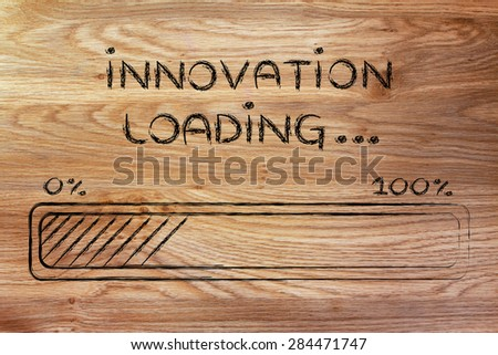 progress bar, funny design with concept of innovation loading - stock photo