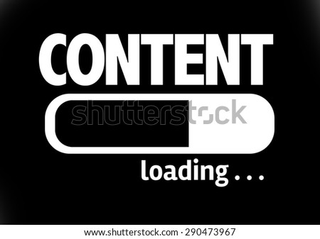Progress Bar Loading with the text: Content - stock photo