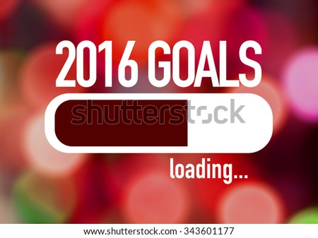 Progress Bar Loading with the text: 2016 Goals - stock photo