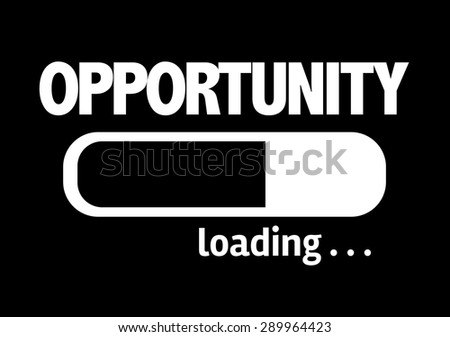Progress Bar Loading with the text: Opportunity - stock photo
