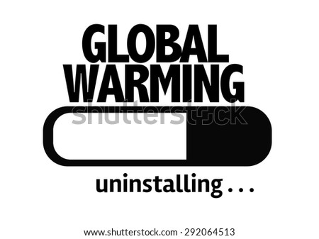 Progress Bar Uninstalling with the text: Global Warming - stock photo