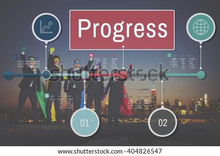 Progress Improvement Investment Mission Development Concept - stock photo