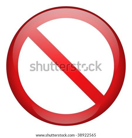 Prohibition Icon - stock photo