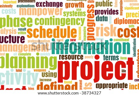 Project Management and Planning as a Background - stock photo