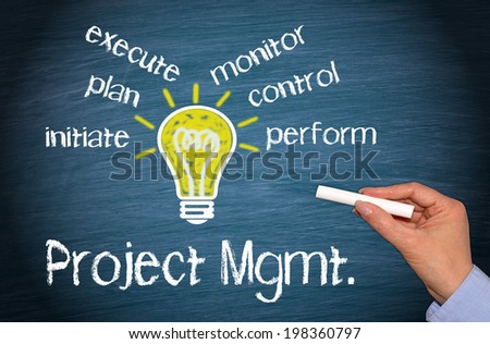 Project Management - Business Concept - stock photo