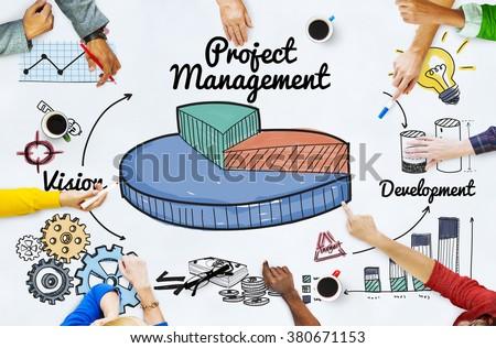 Project Management Ideas Development Graph Concept - stock photo