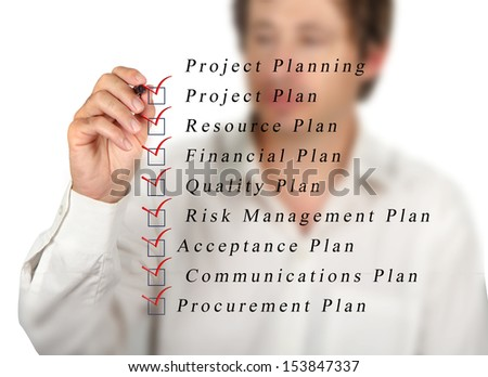 Project planning - stock photo