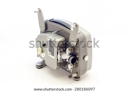 Projector for film video vintage - stock photo