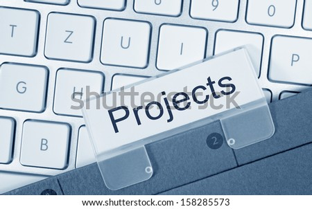 Projects - stock photo