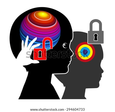 Promoting Brain Development. Early brain must be unleashed from outside otherwise it will impoverish - stock photo
