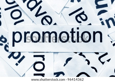 Promotion word cloud - stock photo