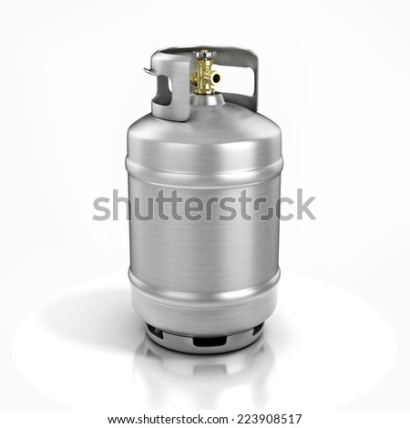 propane cylinder with compressed gas 3d illustration - stock photo