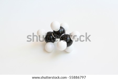 Propane Space-filling Molecule - stock photo