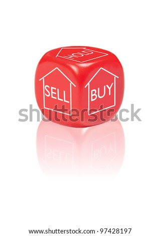 Property buy, sell or hold concept - stock photo