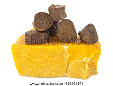Propolis and beeswax - stock photo