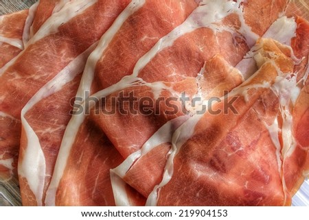prosciutto - stock photo