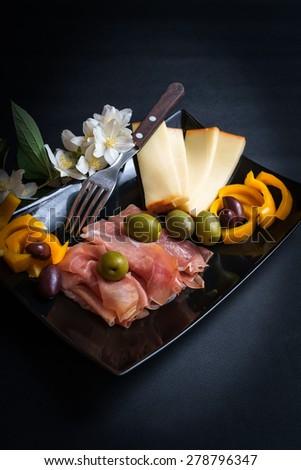 Prosciutto di Parma Appetizer - stock photo