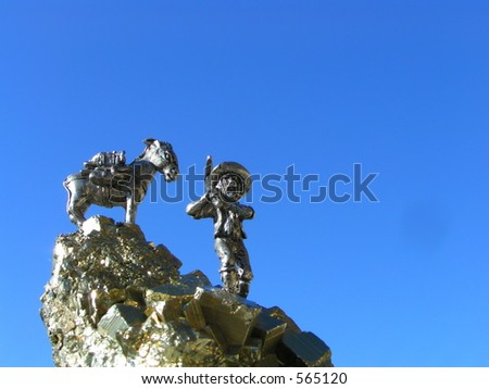 Prospector and Pack Mule - stock photo