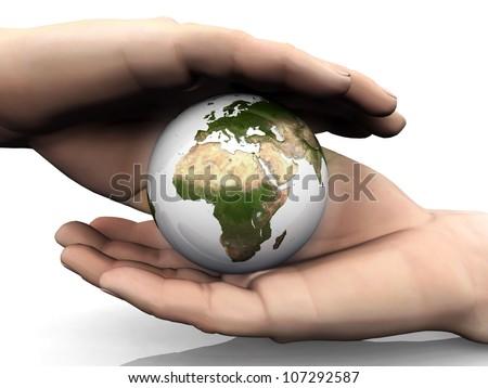 protect earth - stock photo