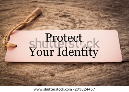 Protect your indentity concept  - stock photo