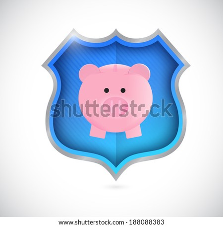 protect your savings concept shield. illustration design over a white background - stock photo