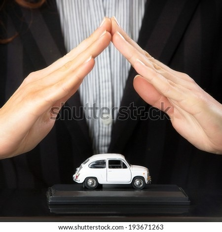 Protection of car. - stock photo