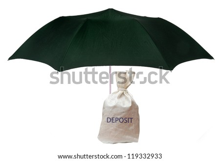 Protection of deposit - stock photo